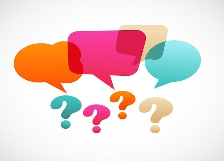 question marks and speech