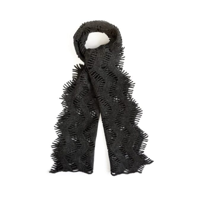 Charcoal Frond Scarf