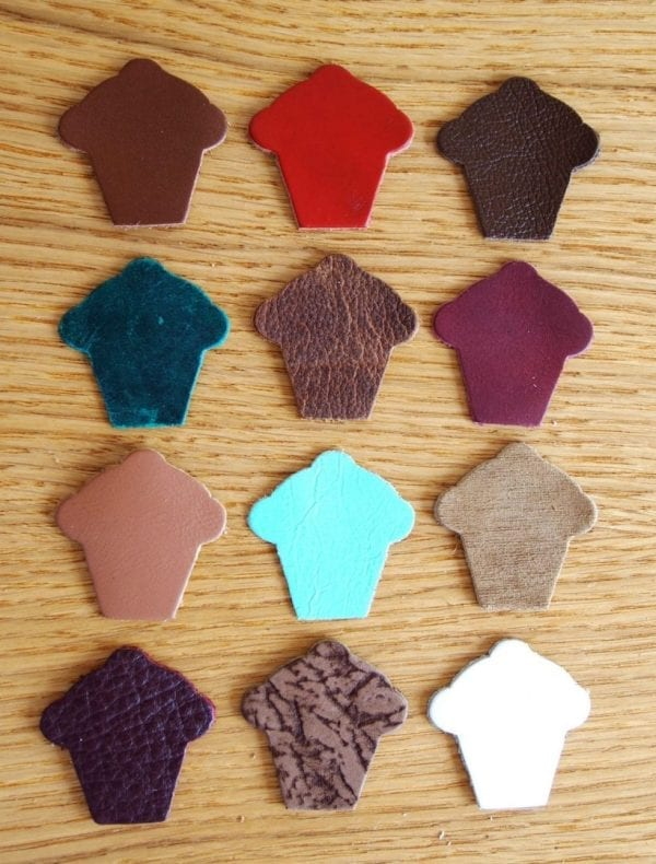 cupcake leather shapes