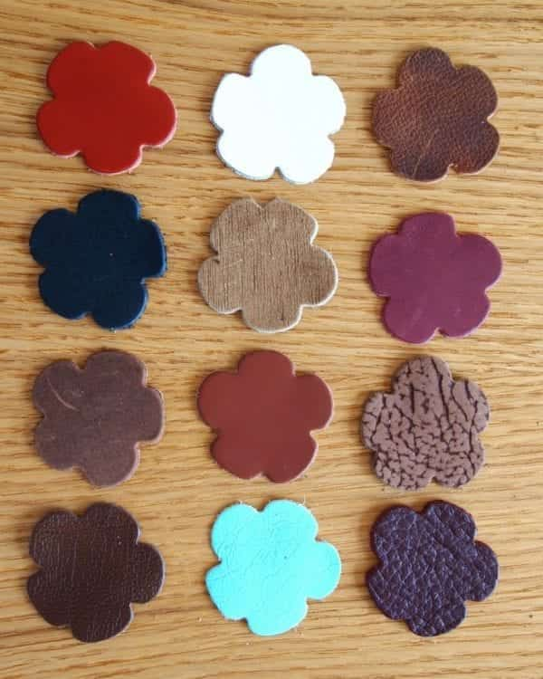 flower leather shapes