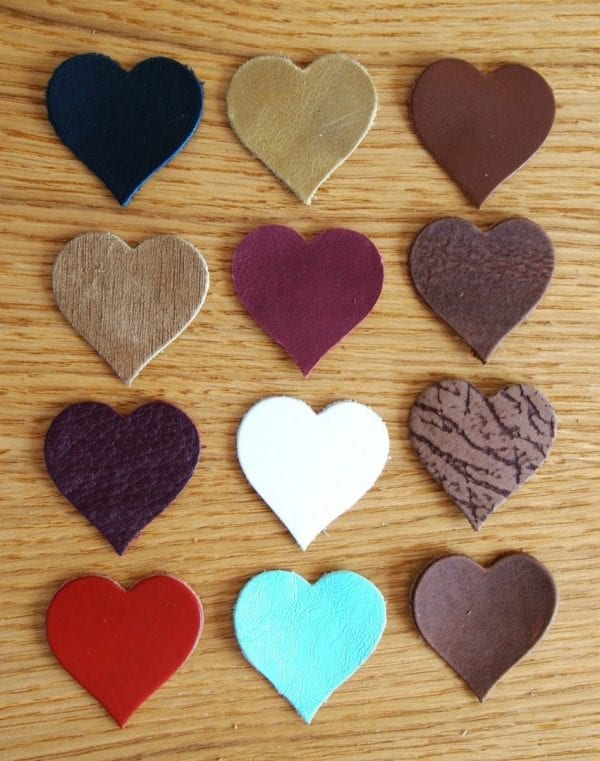 heart leather shapes