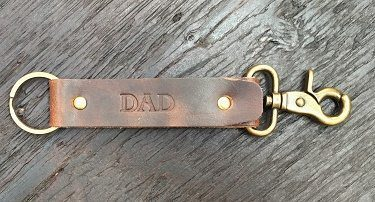 Horween Derby Leather Keyring with Personalised Embossing