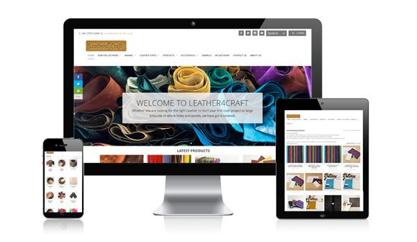 nifty website design Leather4Craft Website