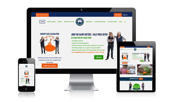 nifty website design Hairy Bikers Diet Club Website