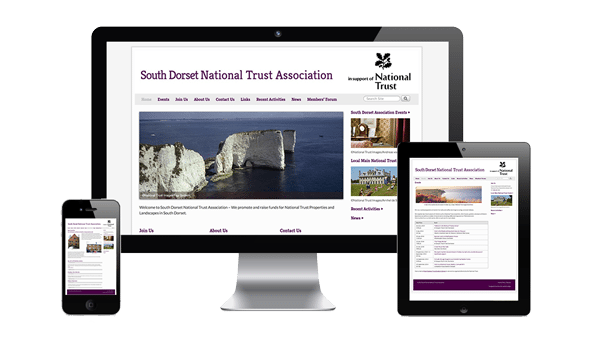 nifty website design South Dorset National Trust Association Website