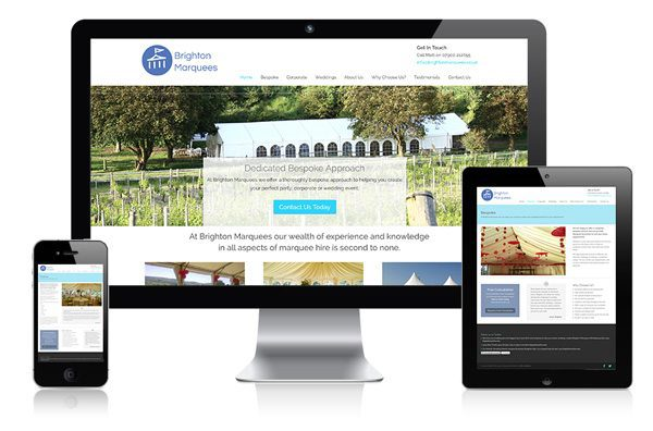 nifty website design Brighton Marquees Website