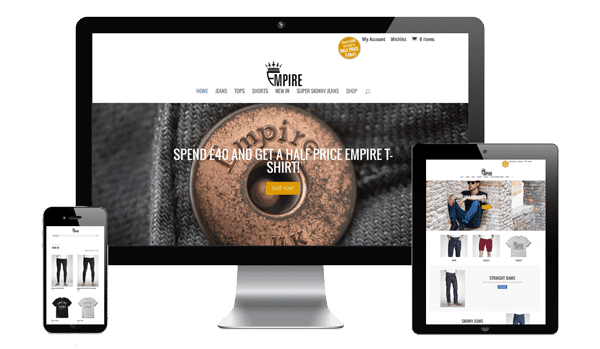 nifty website design Empire Jeans
