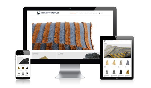 nifty website design Jo Cranston Textiles Website