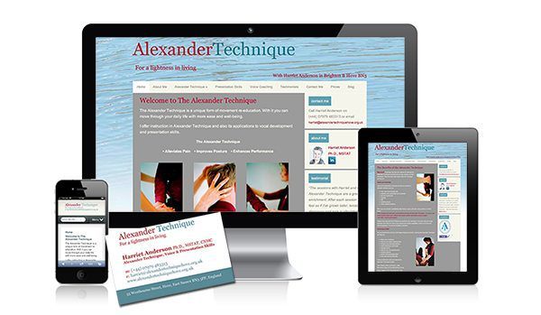 nifty website design Portfolio Page Alexander Technique Website
