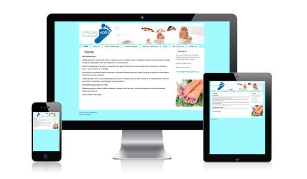 nifty website design Reflexology Works Website